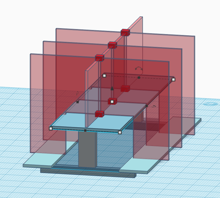 X Bracket for table shield (customizable)