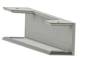 Laptop under shelf/table rack