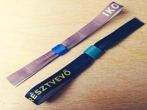 Festival wristband removable clip