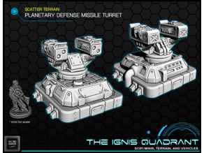 Planetary Missile Defense Turret - Tabletop Gaming - The Ignis Quadrant