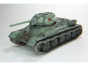 Soviet T34/76 tank 1:56 scale (28mm)