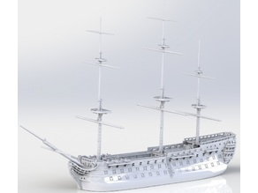 1st rank sail ship Commerce de Marseille (1788) 1/700