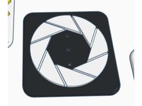 Modular Trailer Hitch Aperture Logo Faceplate