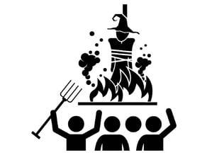 Witch Hunt stencil