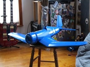 FT Corsair rc airplane (.dxf laser cutter ready)