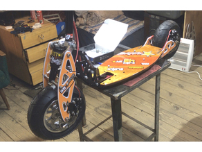 Fender for Evo 2x gas power scooter conversion