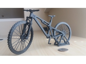 Mountain bike with articulated front and rear suspension