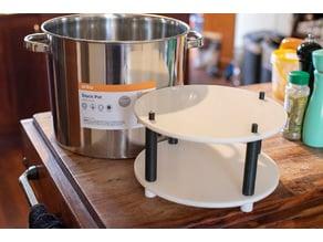 Acetone vapor smoothing shelf for 4 gallon stock pot