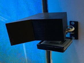 Wyze Cam Angled Hood (to cut glare) With Sing Arm