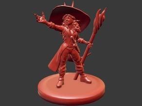 Tiefling Warlock Girl Miniature