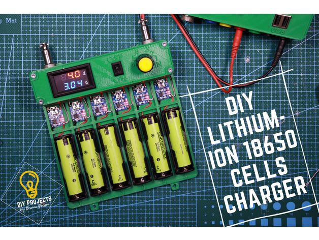 Diy 18650 Battery Charger By