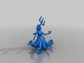 Female Dark Octopusfolk with Trident