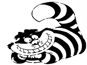 Cheshire Cat stencil