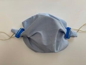 Clip for makeshift face mask