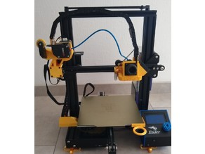BMG extruder position in front of the printer