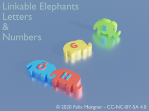 Linkable Elephants - Letters & Numbers (Redesign/Remix)