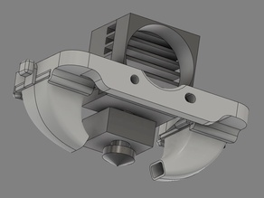 Radiator Fan Cover Fan Duct for v6 or Volcano Hotends Compatible w// e3d