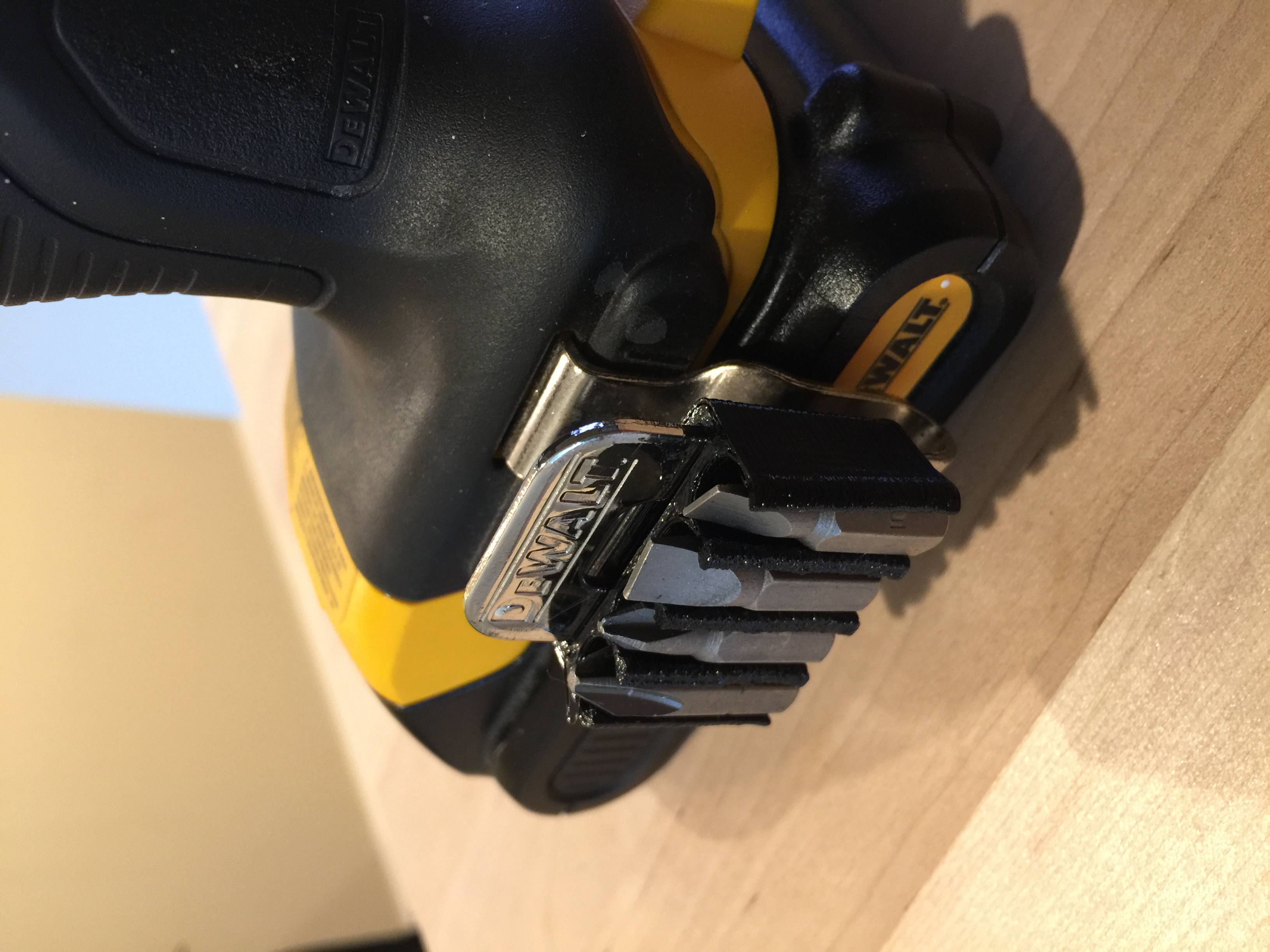 Driver Bit Holder for Dewalt belt clip