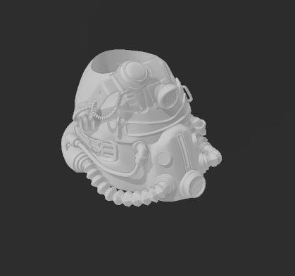 pencil jar - t51b power armor helmet