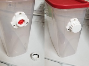 Filament guide for dry box, with o-ring screw cover IMPROVED VERSION (STP files included)