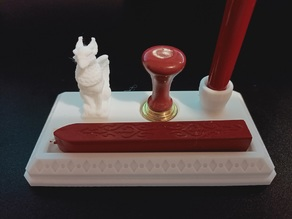 Griffon Fountain Pen Holder - with wax seal