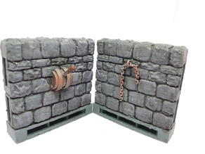 Dungeon Stone walls with Levers and Chains