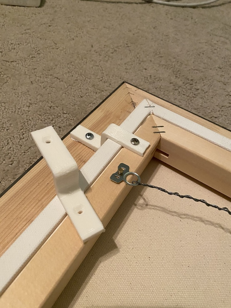 Z Shape Picture Frame Braces (offset clips)