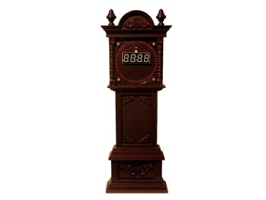 Grandfather Clock Case for EC1515B and DS1302 Rotating Clock Kits