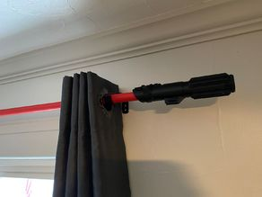 Sith Lightsaber Curtain Rod