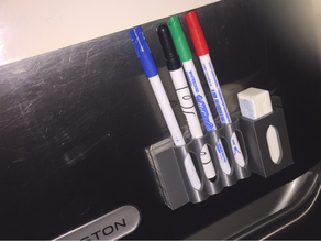 Marker and Eraser holder for whiteboard (magnetic)