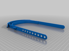 Flexible TPU strap for Prusa RC3 face shield - PLA/PETG designs as backup included