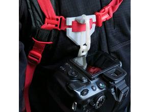 Camera backpack carabiner mount