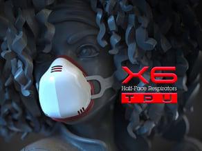 X6 Half-Face Respirators - TPU version