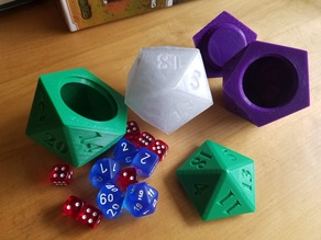 D20 Dice Holder (Screw top, non-countdown)