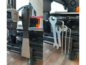 Magnetic spatula holder