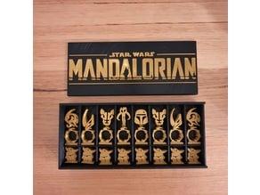 Mandalorian Chess Set and display box