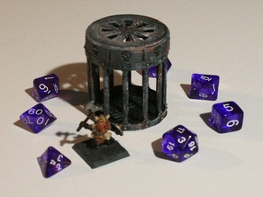 D&D Dice Prison III or Jail with Lid for Dungeons & Dragons, Pathfinder or other Tabletop Games