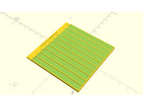 Lithophane Calibrator - Parametric Square