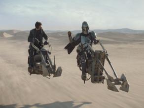 Star Wars The Mandalorian swoop bike Zephyr G seen during Tatooine episode