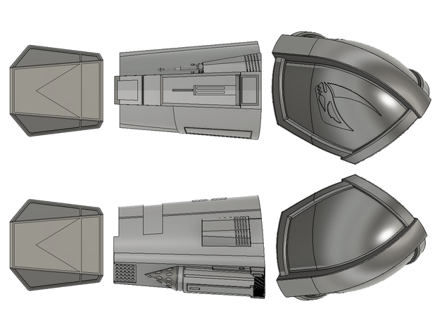 The Mandalorian Beskar Armor Full Arm Pauldron Vambrace Gauntlet By Mr Corn Thingiverse