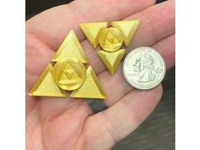 Zeldathon Forces Triforce Mini/Micro Fidget Spinners (Fully Printable)
