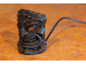 Tiki God of War Ku, Printable USB powered Desktop Light