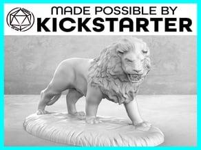 Lion - Action Pose - Tabletop Miniature