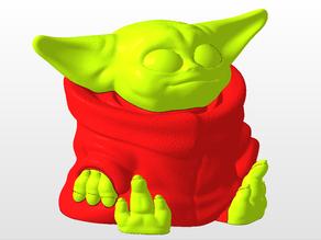 Baby Yoda (2 color print)