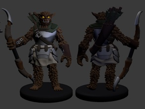 Bugbear Ranger and Fighter Miniatures