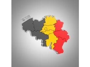 Belgium map puzzle
