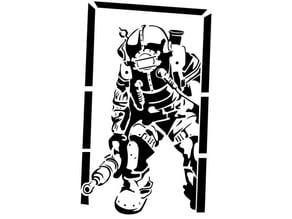 Bioshock Big Daddy Stencil 2