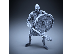 Skeleton - Heavy Infantry - Spear + Round Shield - Defensive Pose