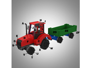 Tractor 3D puzzle