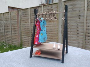 Clothes Rack for Barbies
